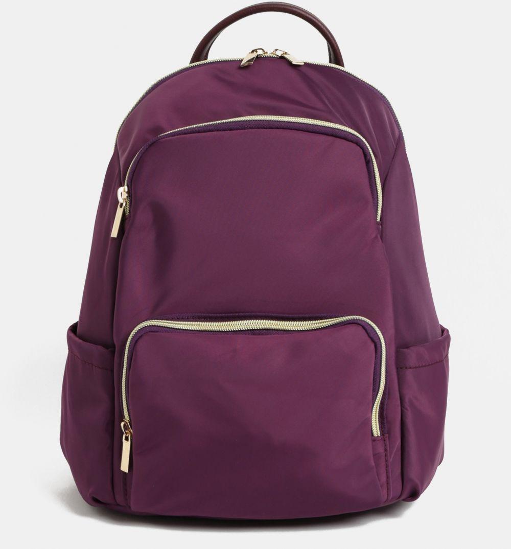 9d2b4d6254de Fialový batoh so zipsami v zlatej farbe ZOOT značky ZOOT - Lovely.sk