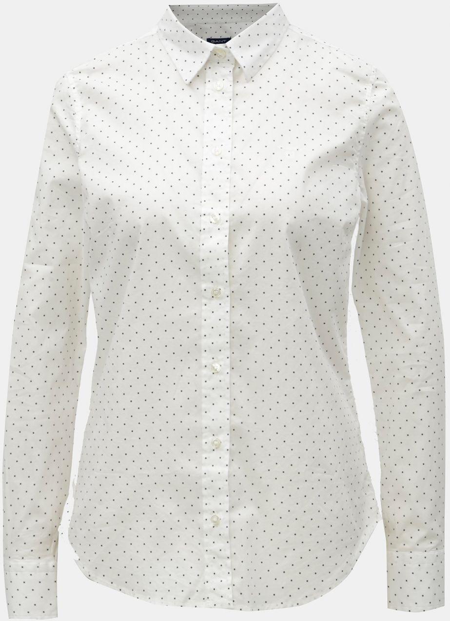 d3788c94b321 Biela dámska bodkovaná košeľa GANT značky Gant - Lovely.sk