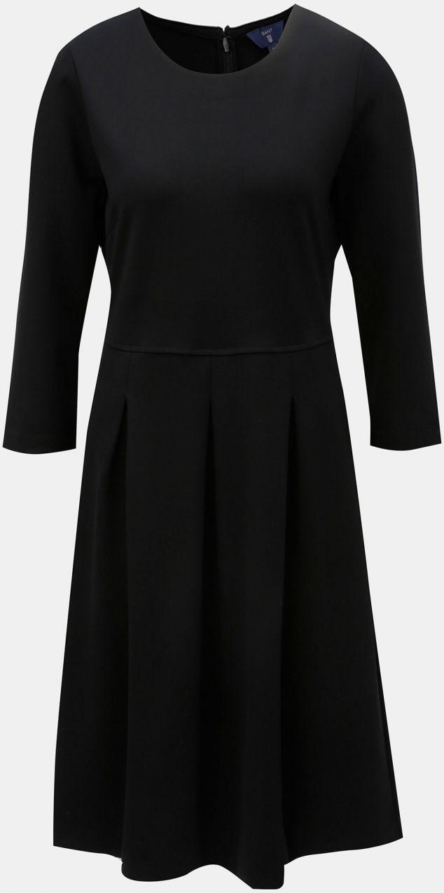 d009bb7efa88 Čierne áčkové šaty s 3 4 rukávom GANT značky Gant - Lovely.sk