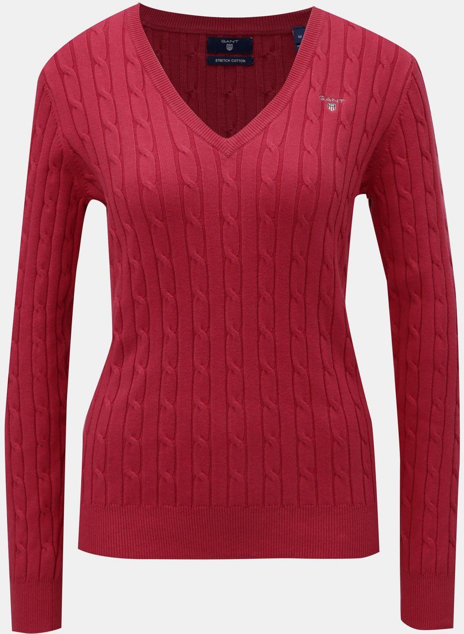 5d6f2e762277 Červený dámsky sveter s plastickým vzorom GANT značky Gant - Lovely.sk