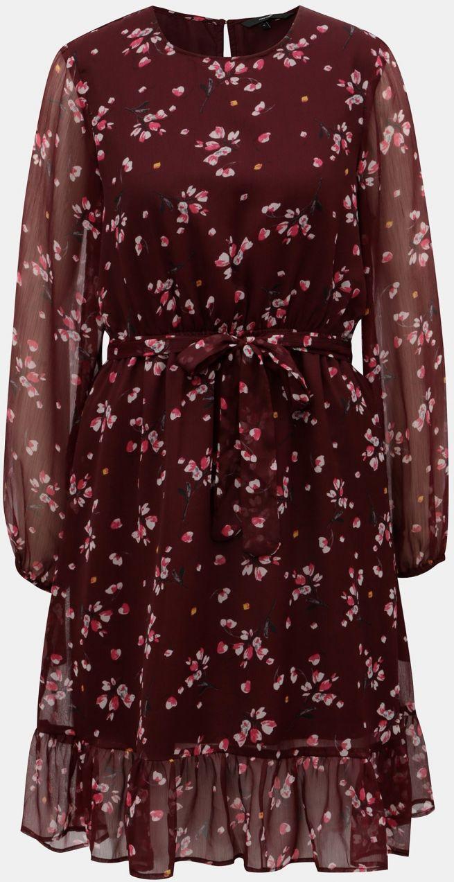 9f3a5def3c94 Vínové kvetované šaty VERO MODA Maya značky Vero Moda - Lovely.sk