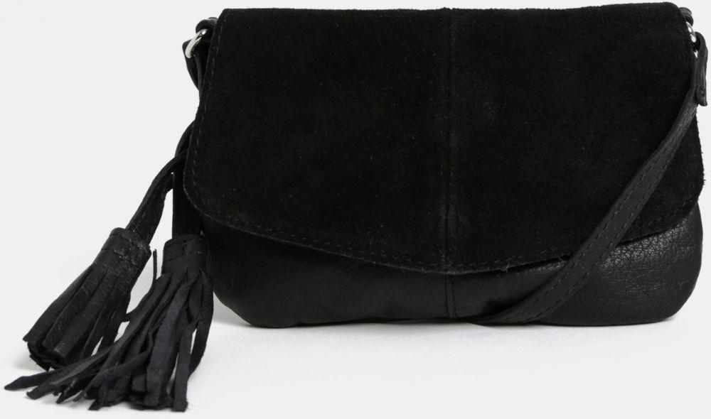 Čierna malá semišová crossbody kabelka Pieces značky Pieces - Lovely.sk 968b26ff85d