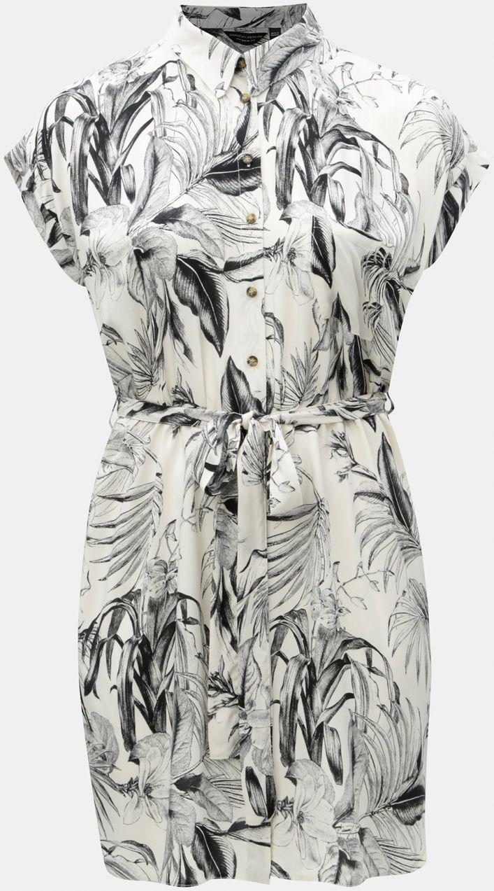 e12cc7ae1479 Čierno–biele vzorované košeľové šaty Dorothy Perkins Curve značky Dorothy  Perkins Curve - Lovely.sk