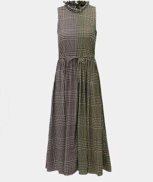 4018d8c302 Sivo-zelené kockované šaty VERO MODA Dorothy