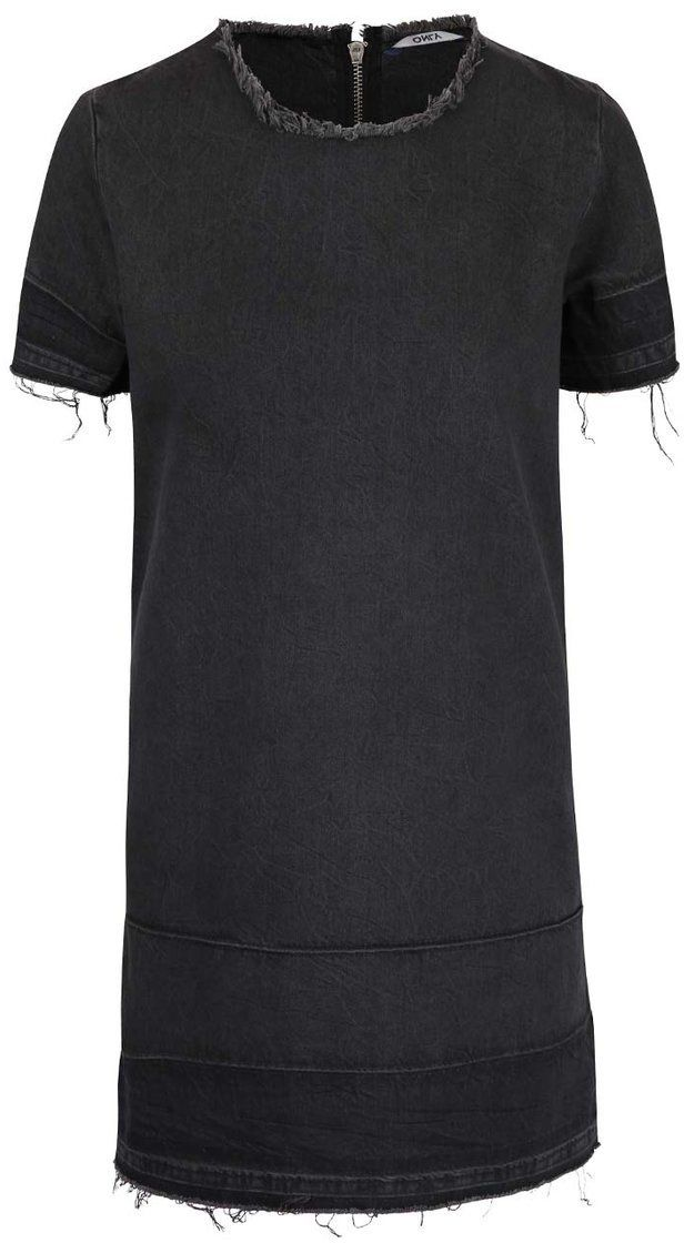 9d91d1313ab5 Tmavosivé rifľové šaty ONLY Anya značky ONLY - Lovely.sk