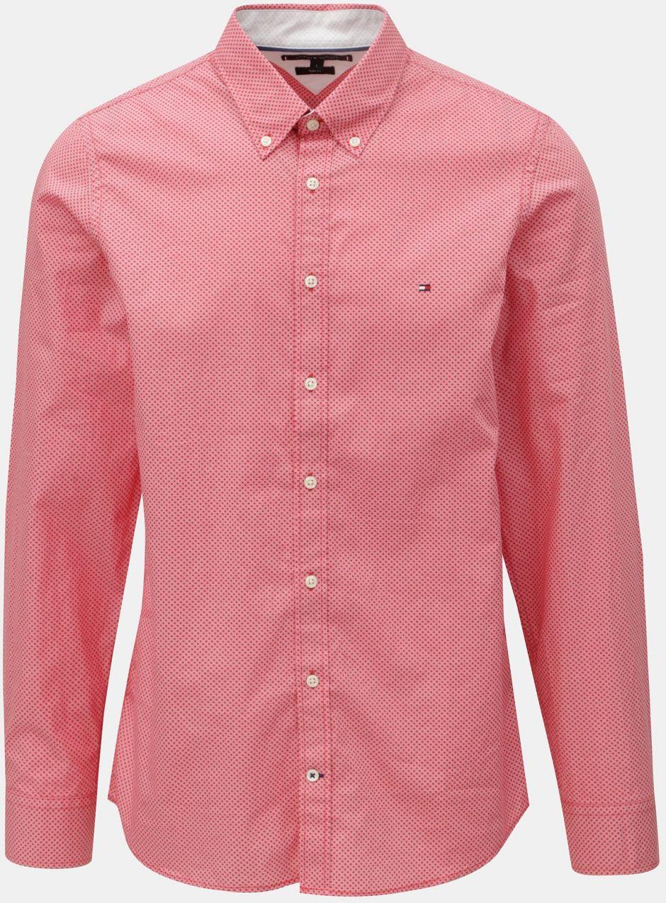 4c554df027d8 Červená pánska slim fit košeľa Tommy Hilfiger Diamond značky Tommy Hilfiger  - Lovely.sk
