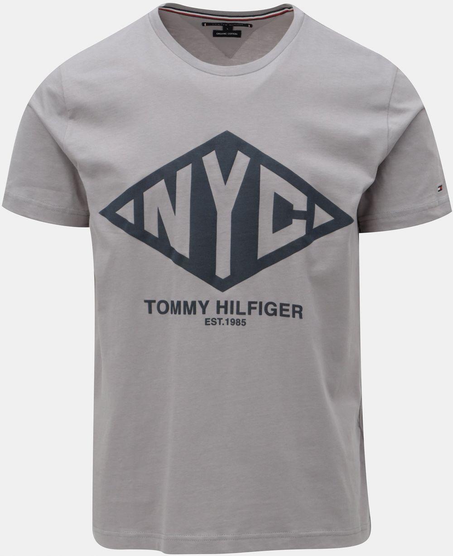 9b08422a5c37 Sivé pánske tričko s potlačou Tommy Hilfiger Shear Tee značky Tommy  Hilfiger - Lovely.sk