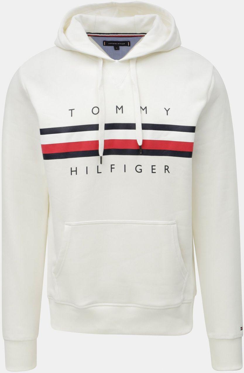 Krémová pánska mikina s potlačou Tommy Hilfiger Hoody značky Tommy ... 6c30ffeceba