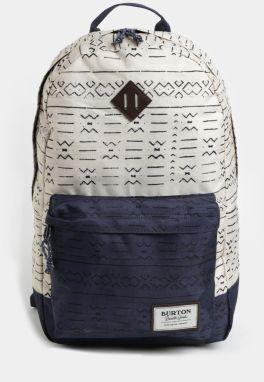Modro-krémový vzorovaný batoh Burton 20 l be640ddc1c