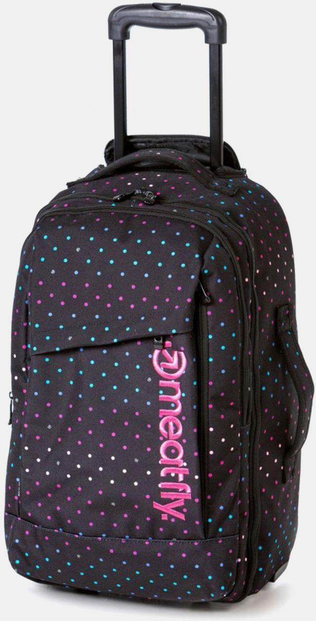 ff320a9393681 Čierna bodkovaná cestovná taška/batoh na kolieskach Meatfly 40 l značky  Meatfly - Lovely.sk