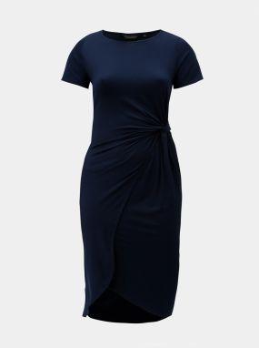 Tmavomodré šaty s bielym čipkovaným lemovaním Dorothy Perkins Curve ... c562be299fd