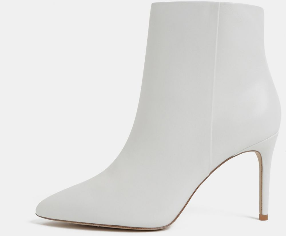 Biele kožené členkové topánky na ihličkovom podpätku ALDO značky ... 20da5f2242d