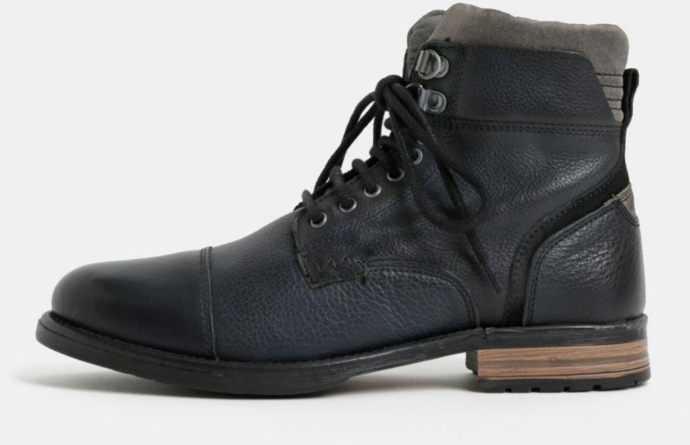 a8ac5df51 Čierne pánske kožené členkové topánky Burton Menswear London značky Burton  Menswear London - Lovely.sk