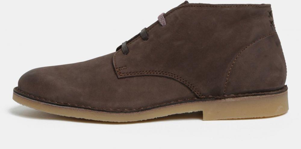 Hnedé pánske semišové členkové topánky Selected Homme Royce značky Selected  Homme - Lovely.sk 22ed5e2b0ae