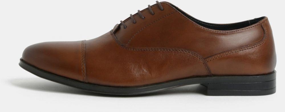 505cdaf17f Hnedé pánske kožené poltopánky Menswear London značky Burton Menswear London  - Lovely.sk