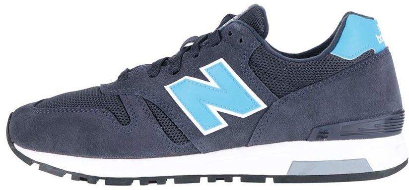 Modro-sivé pánske kožené tenisky New Balance značky New Balance - Lovely.sk 4b99ade2e77