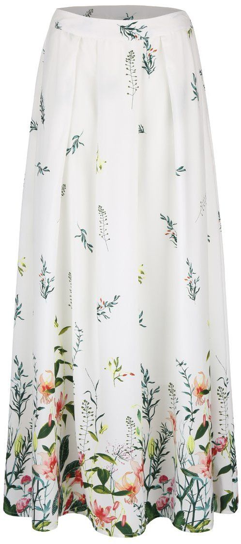 51b39bb2dbd3 Krémová dlhá sukňa s kvetinovou potlačou Vero Moda Oni značky Vero Moda -  Lovely.sk