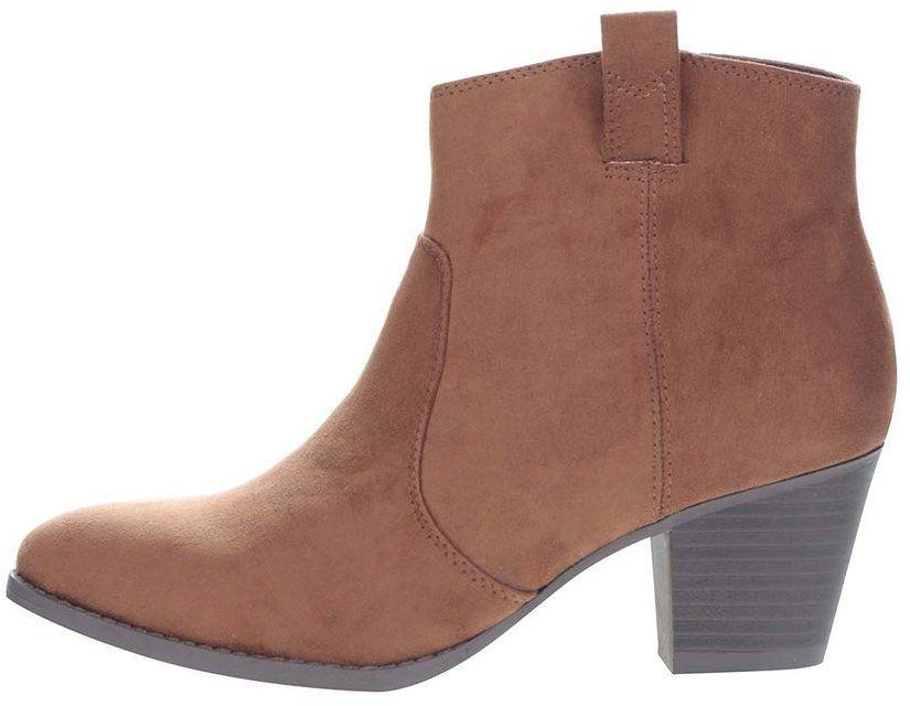 4ce953d5ae Hnedé členkové topánky v semišovej úprave Dorothy Perkins značky Dorothy  Perkins - Lovely.sk