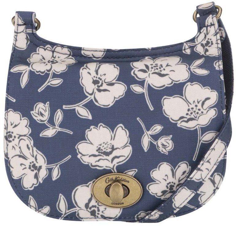 81584649c7 Tmavomodrá crossbody kabelka s kvetinovým motívom Cath Kidston značky Cath  Kidston - Lovely.sk