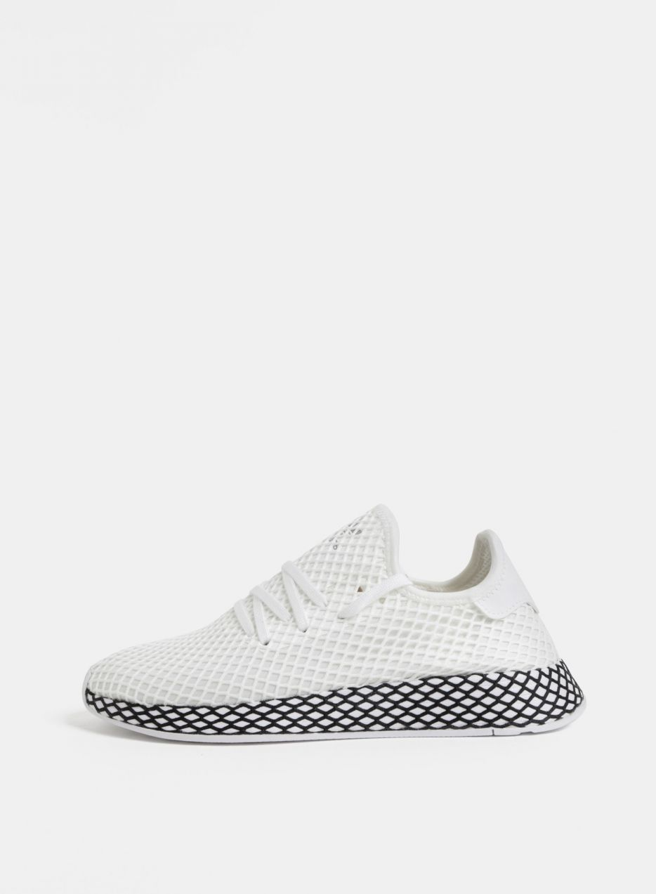 f42b7dbf2 Biele pánske sieťované tenisky adidas Originals Deerupt Runner značky adidas  Originals - Lovely.sk