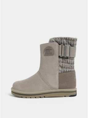 8a2515ad9 Sivé dámske semišové zimné topánky SOREL Newbie