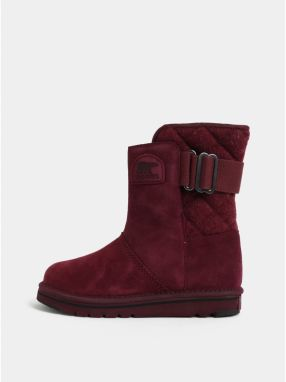 49e5072b00f5 Vínové dámske semišové zimné topánky SOREL Newbie