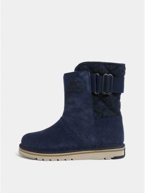 5dca0525f Tmavomodré dámske semišové zimné topánky SOREL Newbie