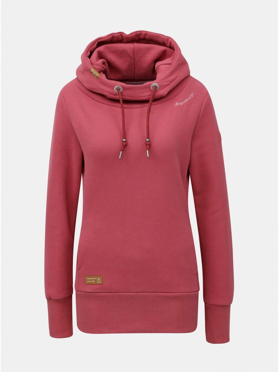 2e3922d250d9 Ružová dámska mikina s kapucňou Ragwear značky Ragwear - Lovely.sk