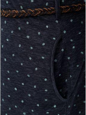 Tmavomodré melírované šaty s dlhým rukávom a opaskom Ragwear značky ... 3a8a642c8a4