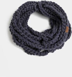 Tmavomodrý dámsky pletený šál DOKE a677d47f5a