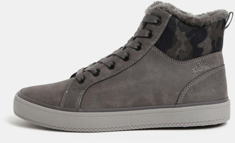 Sivé dámske členkové zimné topánky s umelou kožušinkou s.Oliver značky s. Oliver - Lovely.sk c3d287d48f8