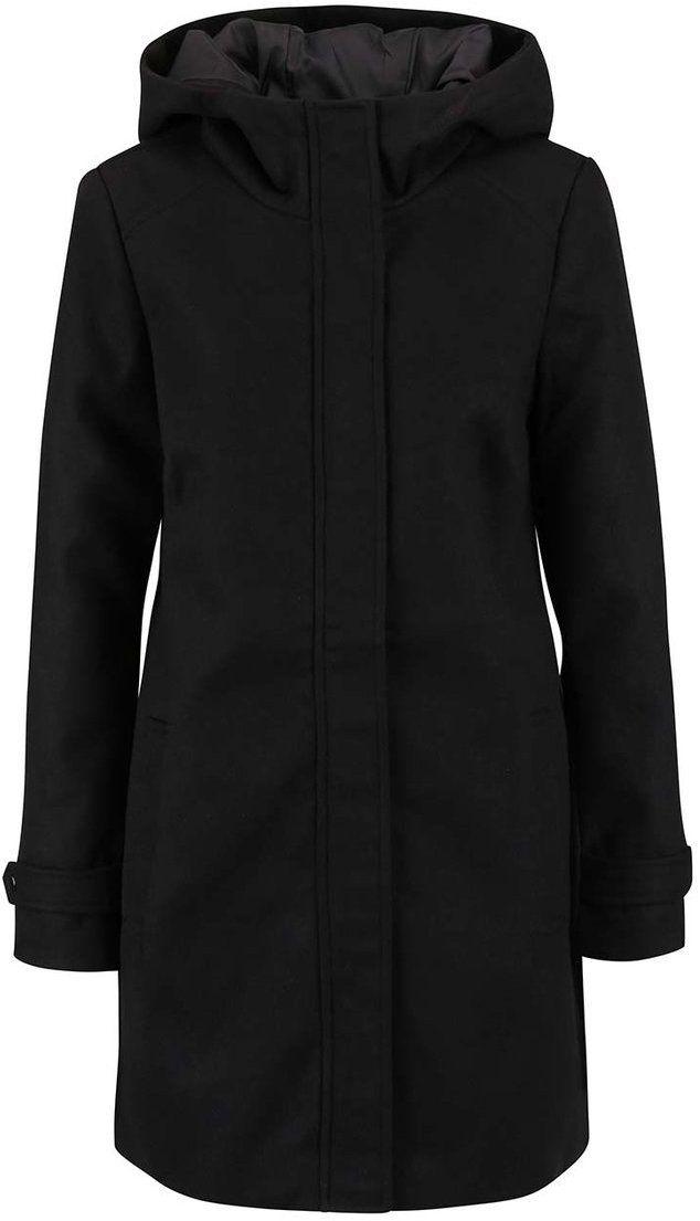 8a0ada53f Čierny kabát s kapucňou Vero Moda Mialiga značky Vero Moda - Lovely.sk
