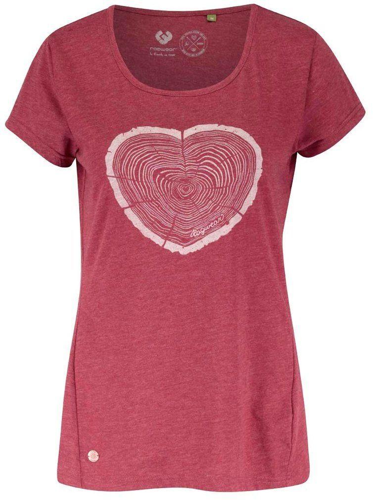 8e732e325680 Červené dámske tričko Ragwear Sugar a organic značky Ragwear - Lovely.sk