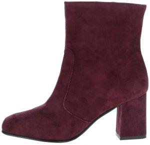 dafd78c65 Vínové semišové členkové topánky Tamaris