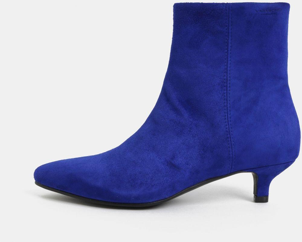 9713175d2a3d4 Modré dámske semišové členkové topánky Vagabond Minna značky Vagabond -  Lovely.sk