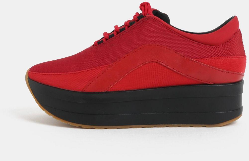f376eab01 Čierno–červené dámske tenisky na platforme Vagabond Casey značky Vagabond -  Lovely.sk