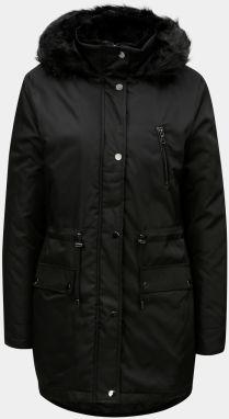 Čierny kabát z umelej kožušiny s vreckami Dorothy Perkins značky ... e260a9416d7