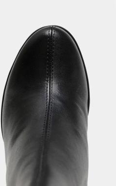 Čierne dámske kožené členkové topánky na podpätku Vagabond Grace galéria ee79171afbf