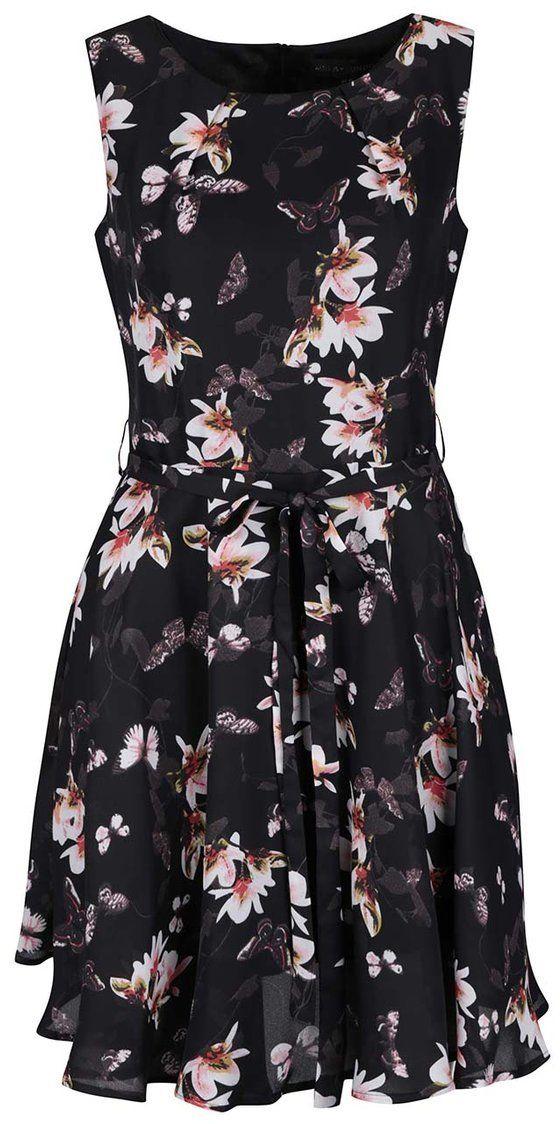 9d32c8c90db1 Čierne kvetované šaty Mela London značky Mela London - Lovely.sk