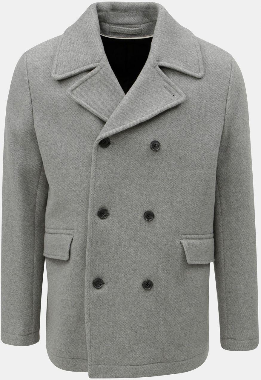 Sivá vlnená bunda Selected Homme značky Selected Homme - Lovely.sk e77d6fd8f0e