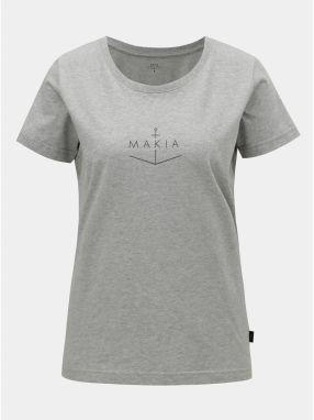 4a3faa63248b Sivé dámske melírované tričko s potlačou Makia Angle
