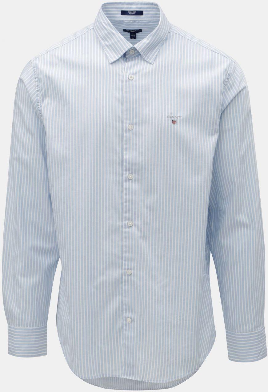 1f92935a3861 Bielo–modrá pruhovaná regular fit košeľa s výšivkou GANT značky Gant ...