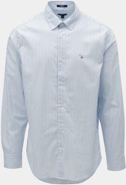 8eccfed0d9b1 Bielo–modrá pruhovaná regular fit košeľa s výšivkou GANT