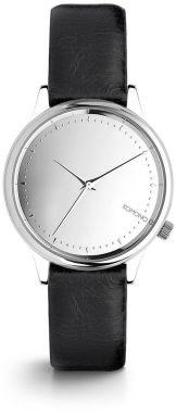 Dámske hodinky s čiernym koženým remienkom Komono Estelle Mirror 7075225e106