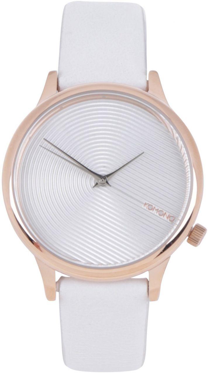 aef4383d5 Dámske hodinky s bielym koženým remienkom Komono Estelle Deco značky Komono  - Lovely.sk