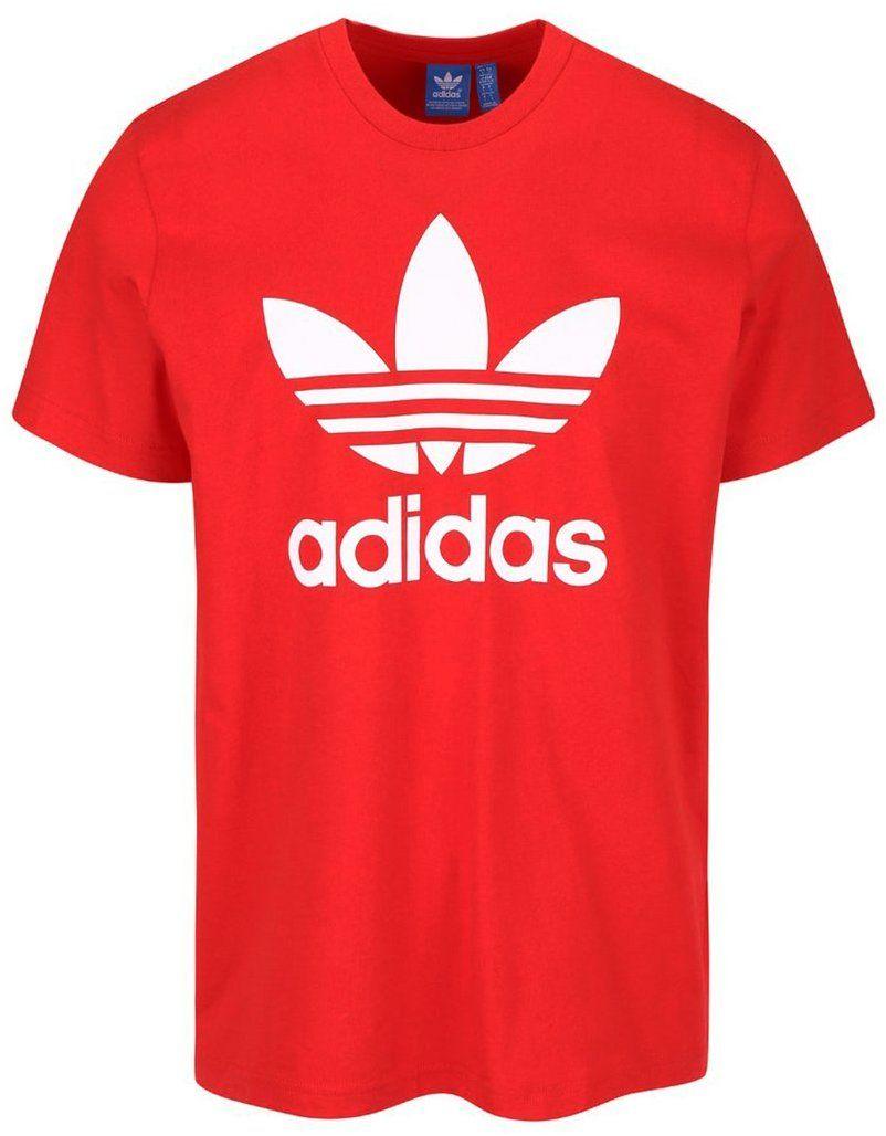 Červené pánske tričko s potlačou adidas Originals značky adidas Originals -  Lovely.sk 5714ddf2ccd