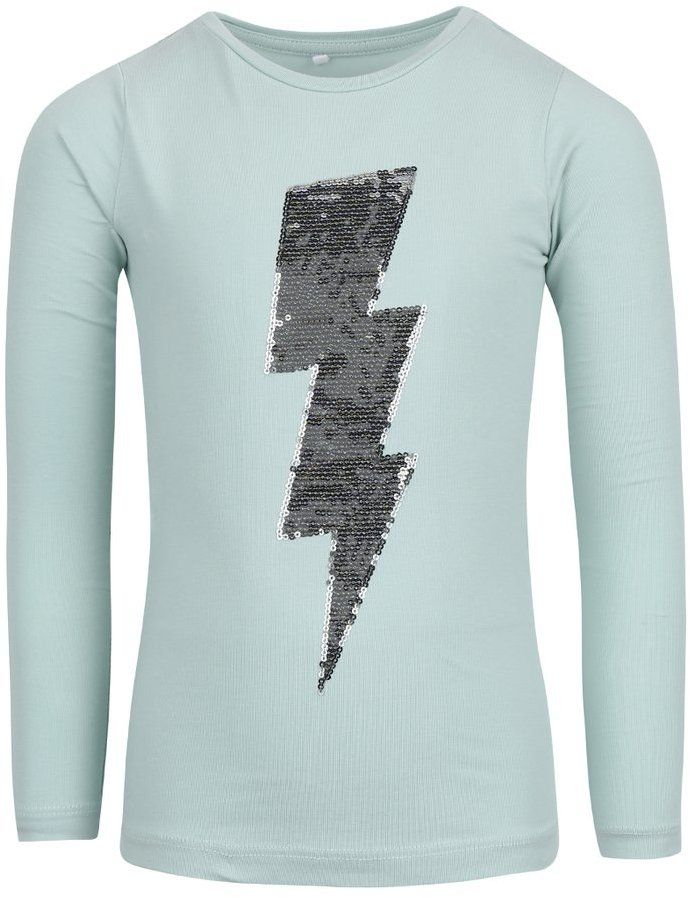027b0310a763 Zelené dievčenské tričko s dlhým rukávom name it Lullu značky name it -  Lovely.sk