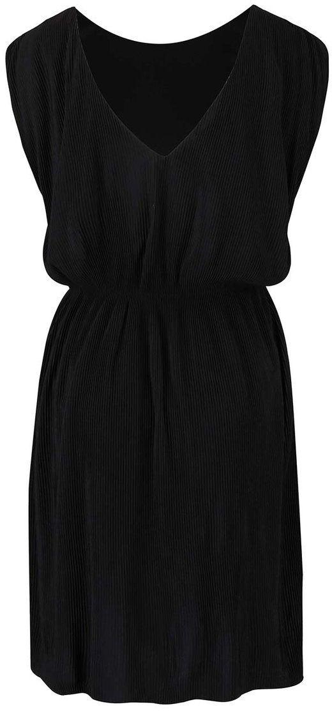 Čierne plisované šaty VILA Plissa značky VILA - Lovely.sk c7f9d00d2b5