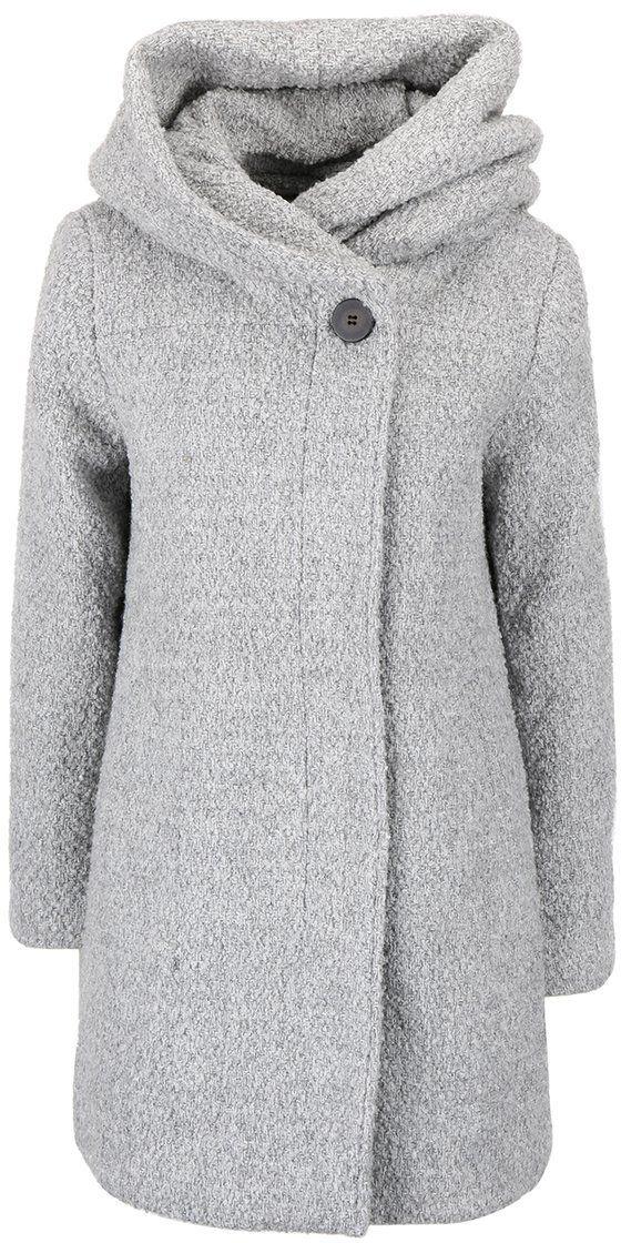 c0daf586c Svetlosivý melírovaný zimný kabát s veľkou kapucňou VILA Cama značky VILA -  Lovely.sk