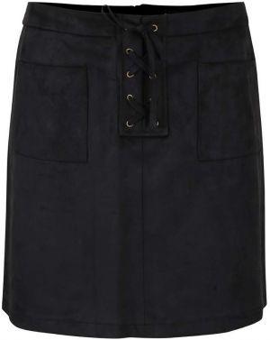 Čierna sukňa v semišovej úprave so šnurovaním Dorothy Perkins a8919b335dc